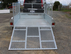 Trailer 7x5 with ramp and cage