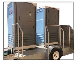 Trailer party toilets