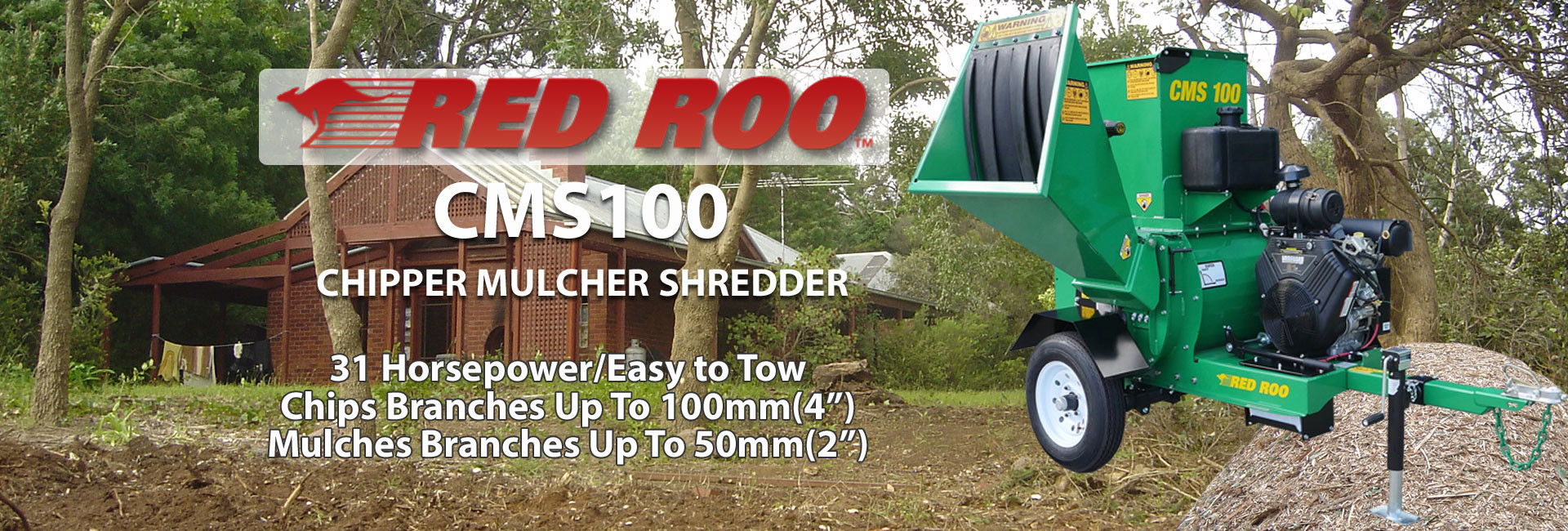 Red Roo CMS100 Chipper Muncher Shredder